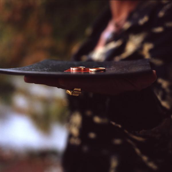 Ringe auf einer freien Trauung, gestaltet von Susanne Ulke